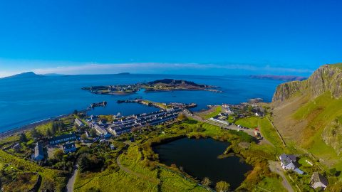 Aerial View of Easdale & Clachan Bridge